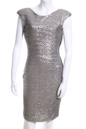 Zara Woman Pailettenkleid silberfarben Elegant