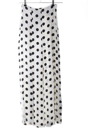 Zara Woman Pantalone palazzo bianco-nero stampa integrale stile professionale