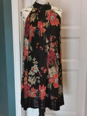 Zara Woman Robe dos-nu multicolore