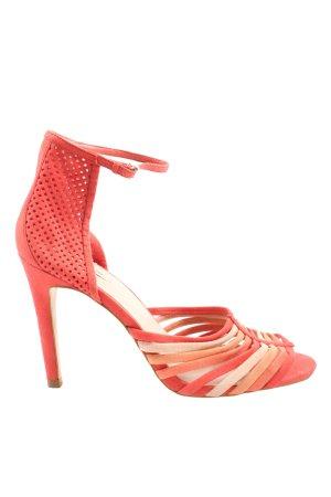 Zara Woman Peeptoe Pumps rot Casual-Look