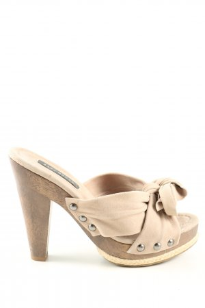 Zara Woman Peeptoe Pumps creme Casual-Look