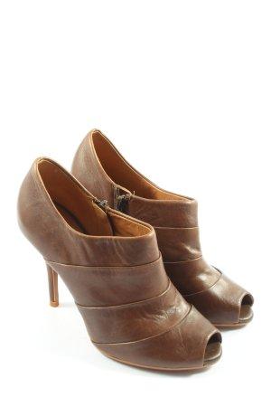 Zara Woman Peeptoe Pumps braun Casual-Look