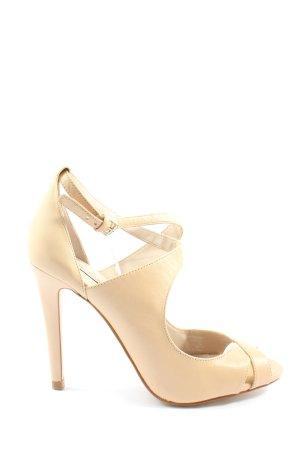 Zara Woman Peeptoe Pumps wollweiß Elegant