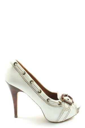 Zara Woman Peep Toe Pumps white casual look