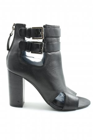 Zara Woman Peeptoe Pumps schwarz Casual-Look
