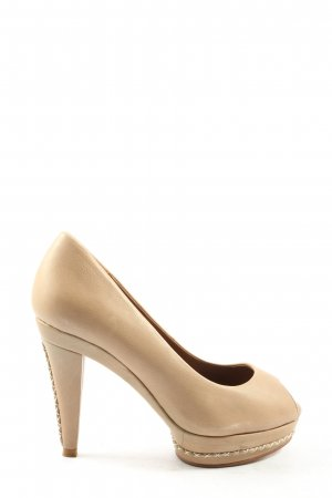 Zara Woman Peeptoe Pumps creme Elegant