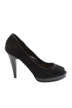 Zara Woman Peeptoe Pumps schwarz Elegant