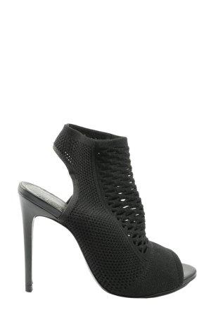 Zara Woman Peeptoe Pumps schwarz extravaganter Stil