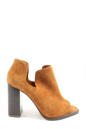 Zara Woman Peeptoe Pumps hellorange Casual-Look