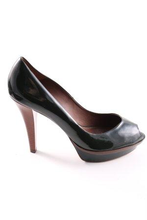 Zara Woman Peeptoe Pumps khaki Business-Look