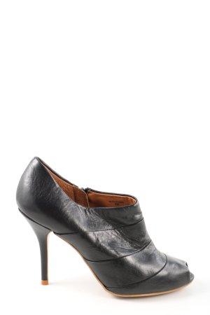 Zara Woman Peep Toe Booties black casual look