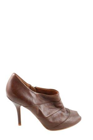 Zara Woman Peep Toe Booties brown casual look