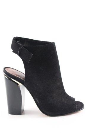 Zara Woman Peeptoe-Stiefeletten schwarz Casual-Look