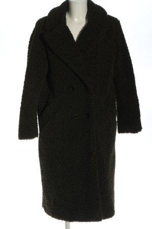 Zara Woman Abrigo de piel caqui elegante