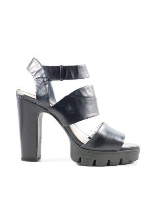 Zara Woman Sandalo con plateau nero elegante