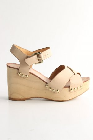Zara Woman Plateau-Sandalen creme Casual-Look