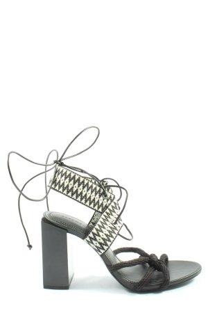 Zara Woman Plateau-Sandaletten weiß-schwarz abstraktes Muster Elegant