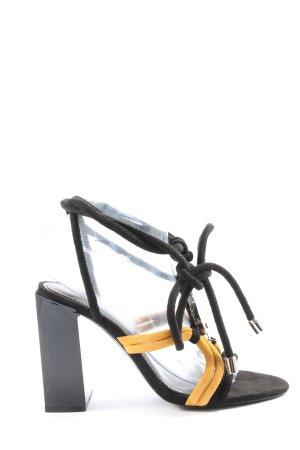 Zara Woman Sandales à talons hauts et plateforme jaune primevère-noir