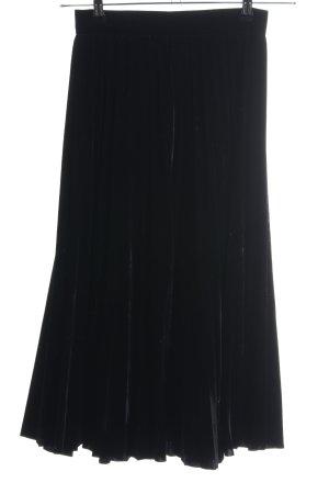 Zara Woman Gonna pieghettata nero stile casual