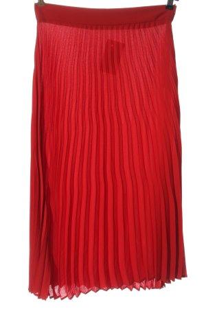 Zara Woman Plisseerock rot Casual-Look