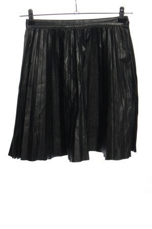 Zara Woman Plisseerock schwarz Casual-Look