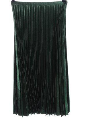 Zara Woman Falda plisada verde look casual