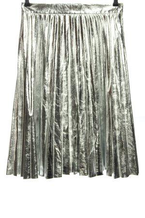 Zara Woman Plisseerock silberfarben Elegant