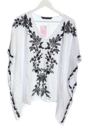 Zara Woman Poncho blanc style décontracté