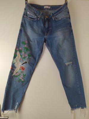 ZARA Woman Premium Ankle Boyfriend Jeans Gr. 34