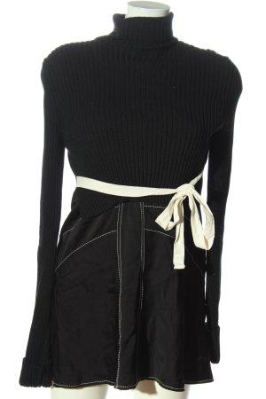 Zara Woman Pulloverkleid schwarz-weiß Casual-Look