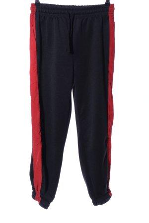 Zara Woman Pumphose schwarz-rot Casual-Look