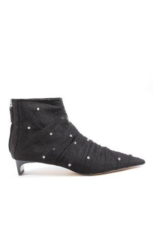 Zara Woman Reißverschluss-Stiefeletten schwarz Casual-Look