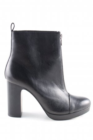 Zara Woman Reißverschluss-Stiefeletten schwarz Business-Look