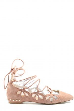Zara Woman Riemchen Ballerinas pink Casual-Look