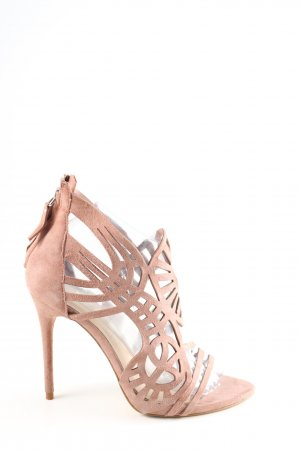 Zara Woman Riemchen-Sandalen pink Party-Look