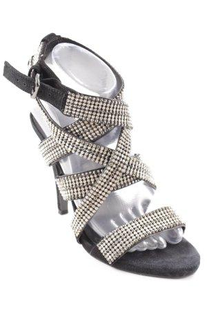 Zara Woman Riemchen-Sandaletten mehrfarbig Elegant