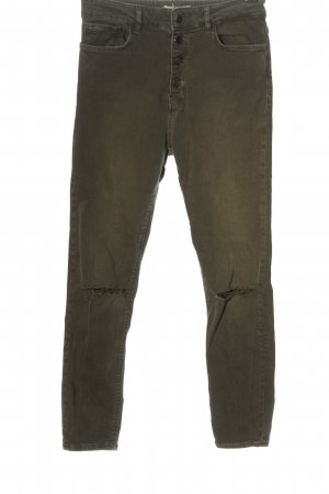 Zara Woman Drainpipe Trousers khaki casual look