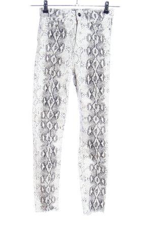 Zara Woman Röhrenhose Allover-Druck Casual-Look
