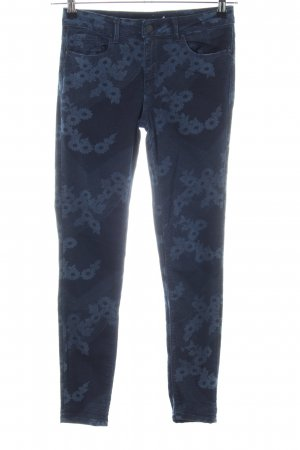 Zara Woman Röhrenhose blau Allover-Druck Casual-Look