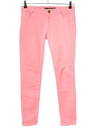 Zara Woman Röhrenhose pink Casual-Look