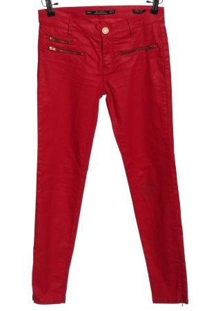 Zara Woman Röhrenhose rot Casual-Look