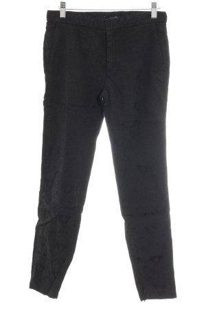 Zara Woman Röhrenhose schwarz Ornamentenmuster klassischer Stil