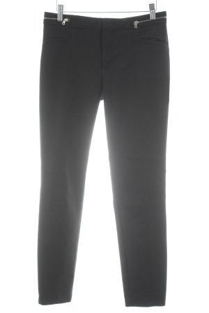Zara Woman Röhrenhose schwarz-silberfarben Elegant