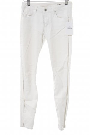 Zara Woman Röhrenhose wollweiß Casual-Look