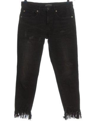Zara Woman Jeans a sigaretta nero stile casual