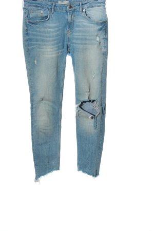 Zara Woman Röhrenjeans blau Casual-Look