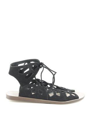 Zara Woman Römer-Sandalen schwarz Casual-Look