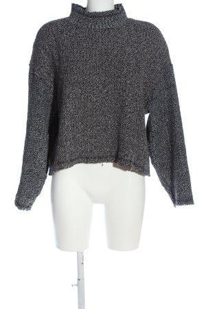 Zara Woman Rollkragenpullover hellgrau meliert Casual-Look