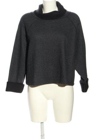 Zara Woman Rollkragenpullover schwarz meliert Casual-Look