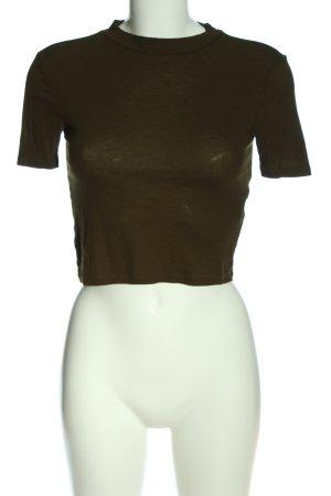 Zara Woman Rollkragenshirt khaki Casual-Look